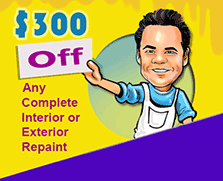 Get $300 off on interior and exterior repaint