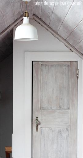 white washed door